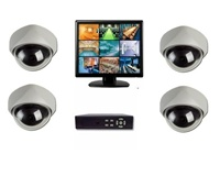 4 Complete CCTV System with 4 Indoor Dome Cameras and 19